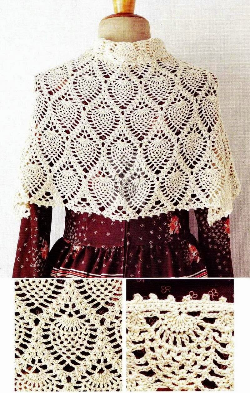 Crochet Patterns Wraps : Crochet Shawls: Crochet Shawl Wrap Pattern - capelet