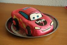 Villám Mcqueen torta