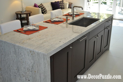 Fantasy Of River White Granite Countertops And Interiors