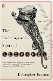 Giveaway -  The Unchangeable Spots of Leopards - Kristopher Jansma