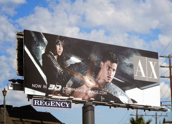 Armani Exchange 3D speed style billboard