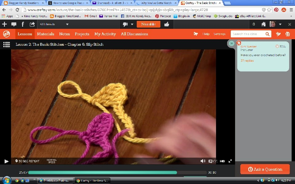 Craftsy Beginning Crochet Class