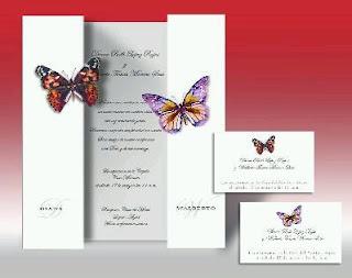 Tarjetas de Boda con Mariposas, parte 3