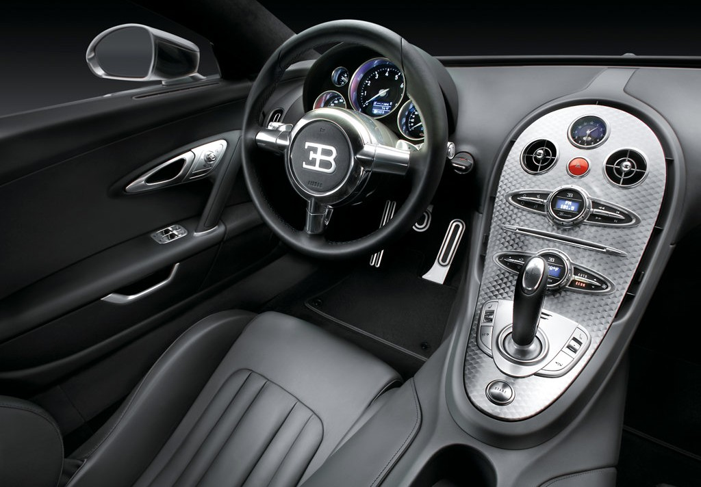 begatti car interior