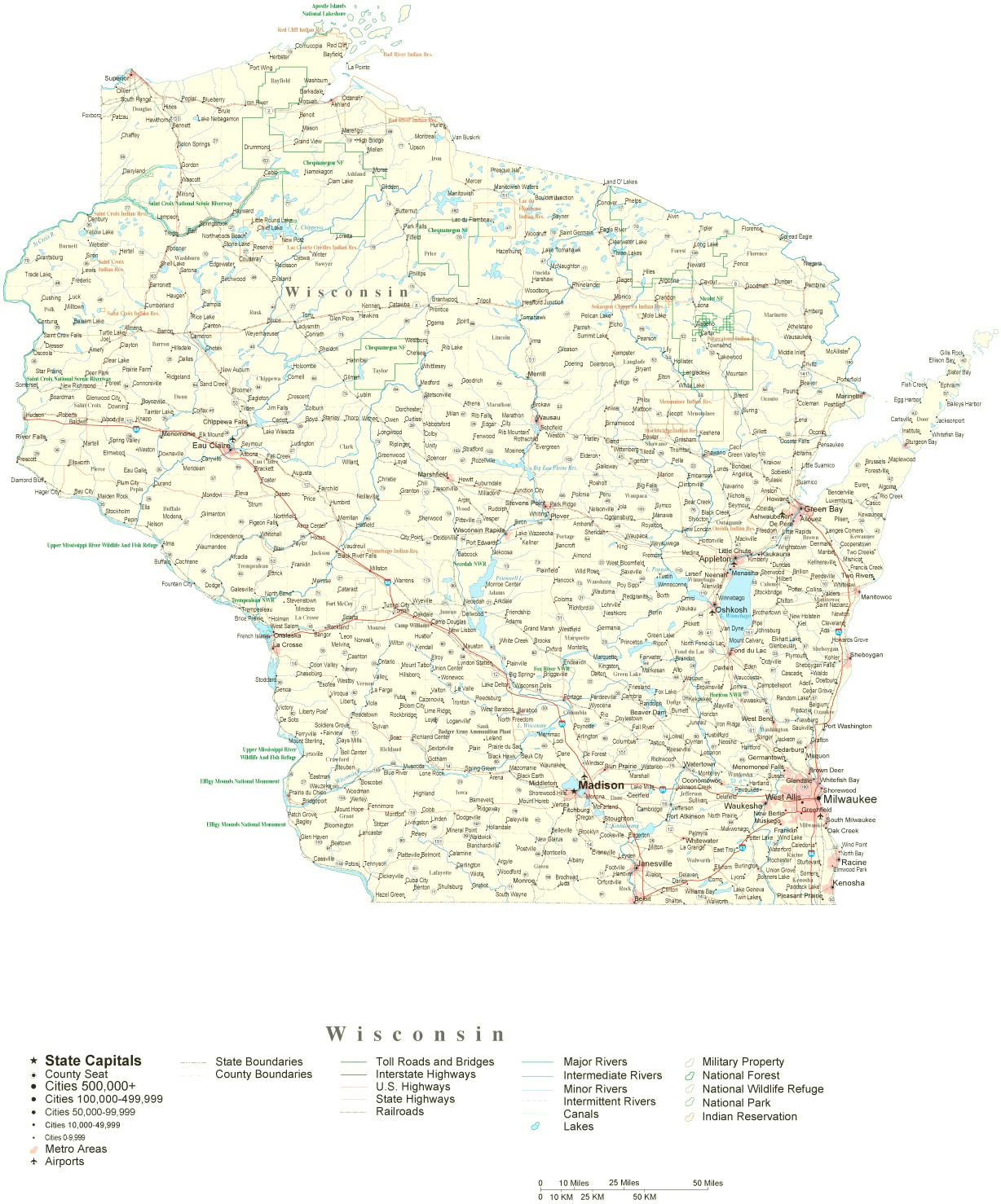 Map Of Wisconsin Cities Road Map Counties Wisconsin