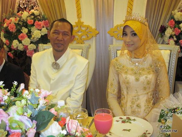 Gambar Kahwin Salih Yacob dan Isteri keempat Samihah Sheikh (Emi