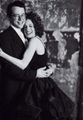 Sarah Jessica Parker marriage Matthew Broderick wearing black colored wedding dress