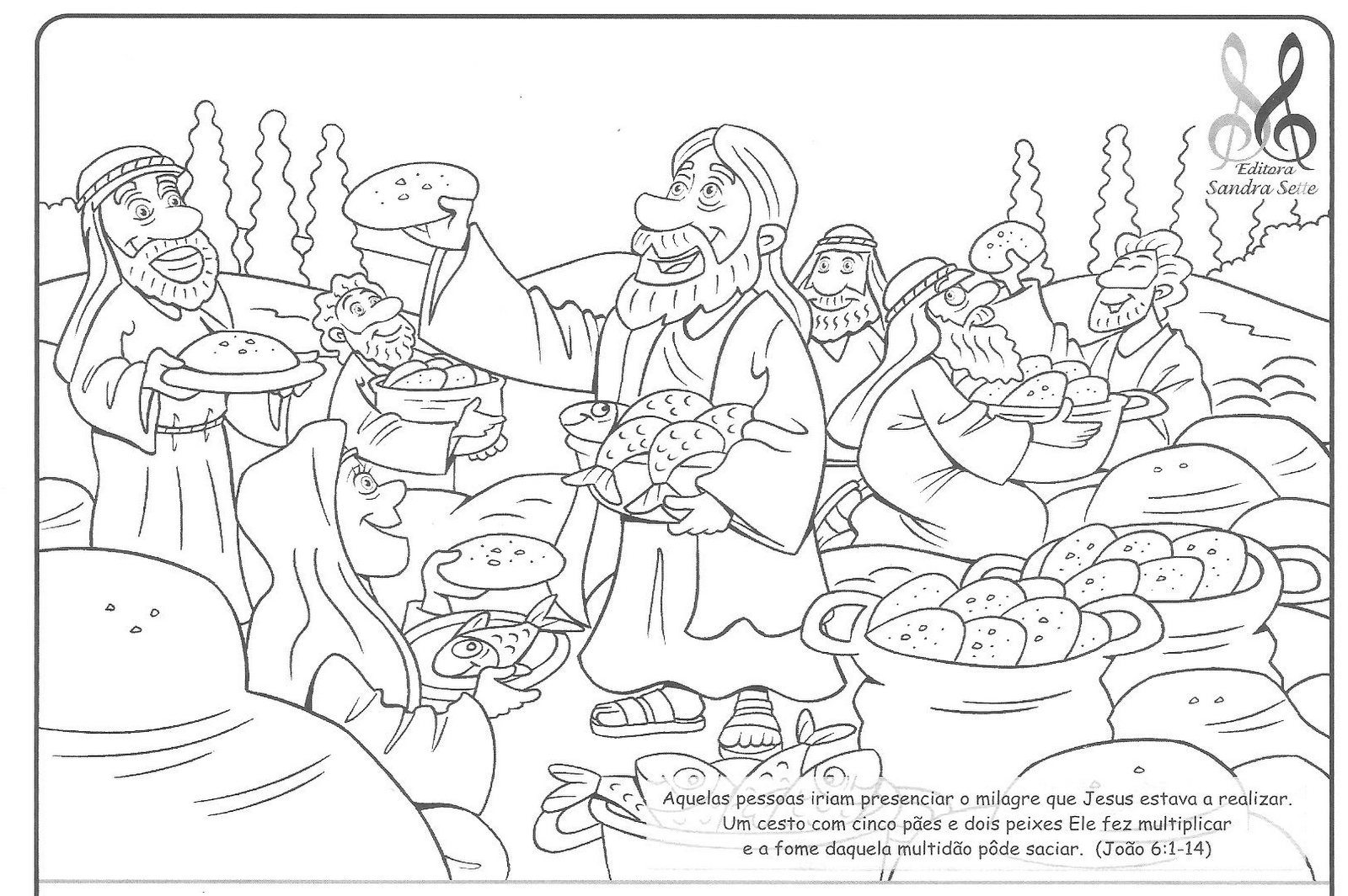 sementinha missionária desenhos para colorir
