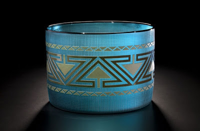 Preston Singletary - Metallic Basket - Lake Blue