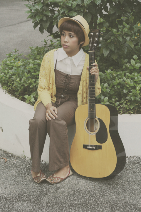 mori girl fashion, mori kei, hat, dungarees, vintage, mori style, guitar, photography, handmade indian shoes