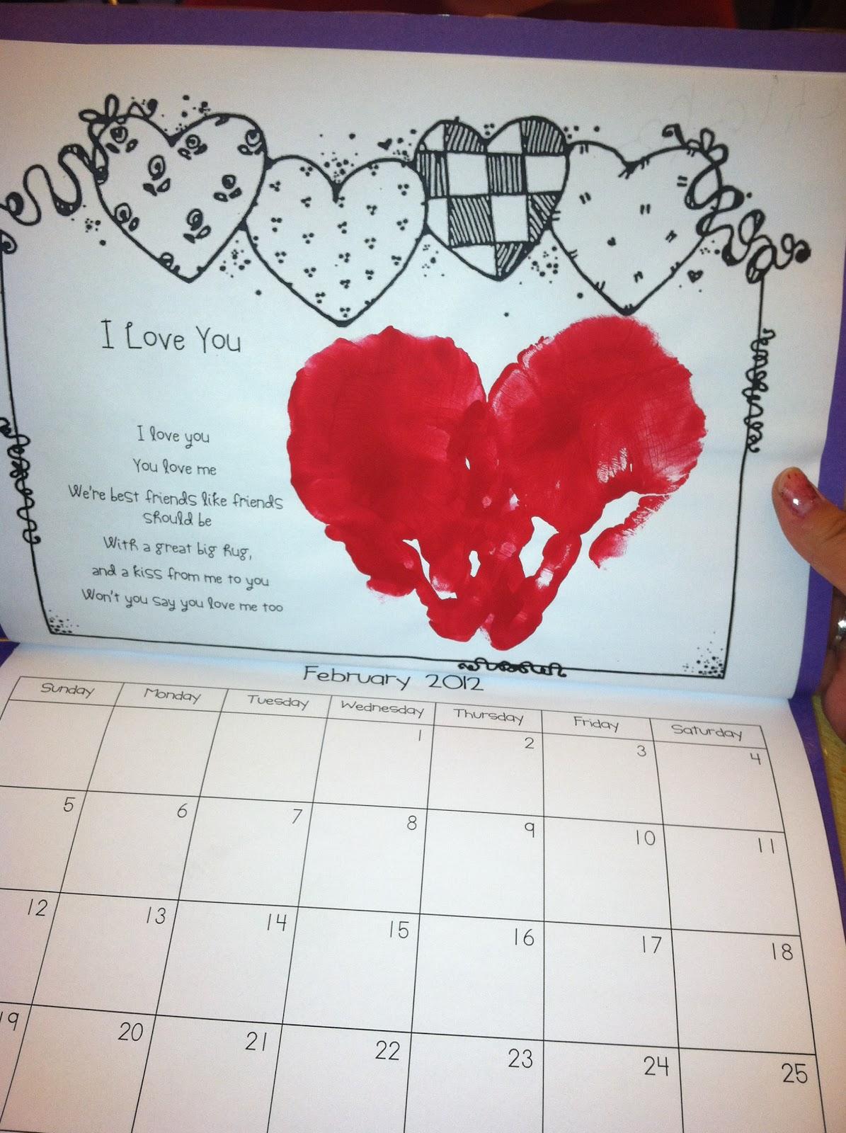 Miss Nguyens Class Handprint Calendar Gift To Their Parents