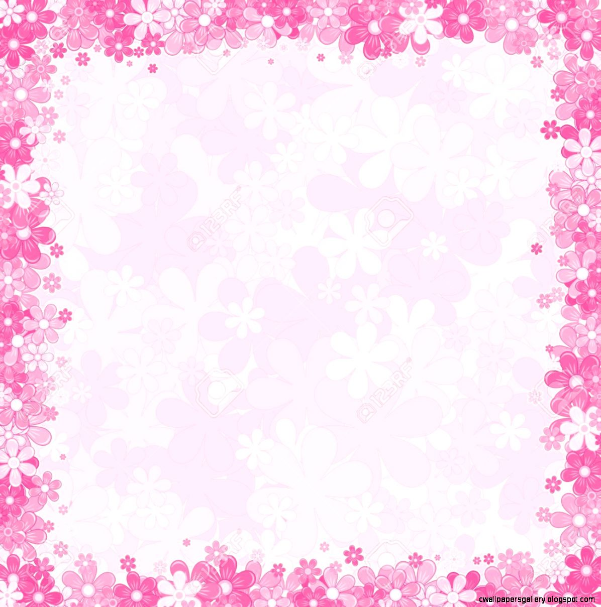 Soft Pink Fl Background Vector Template For Your Text Or