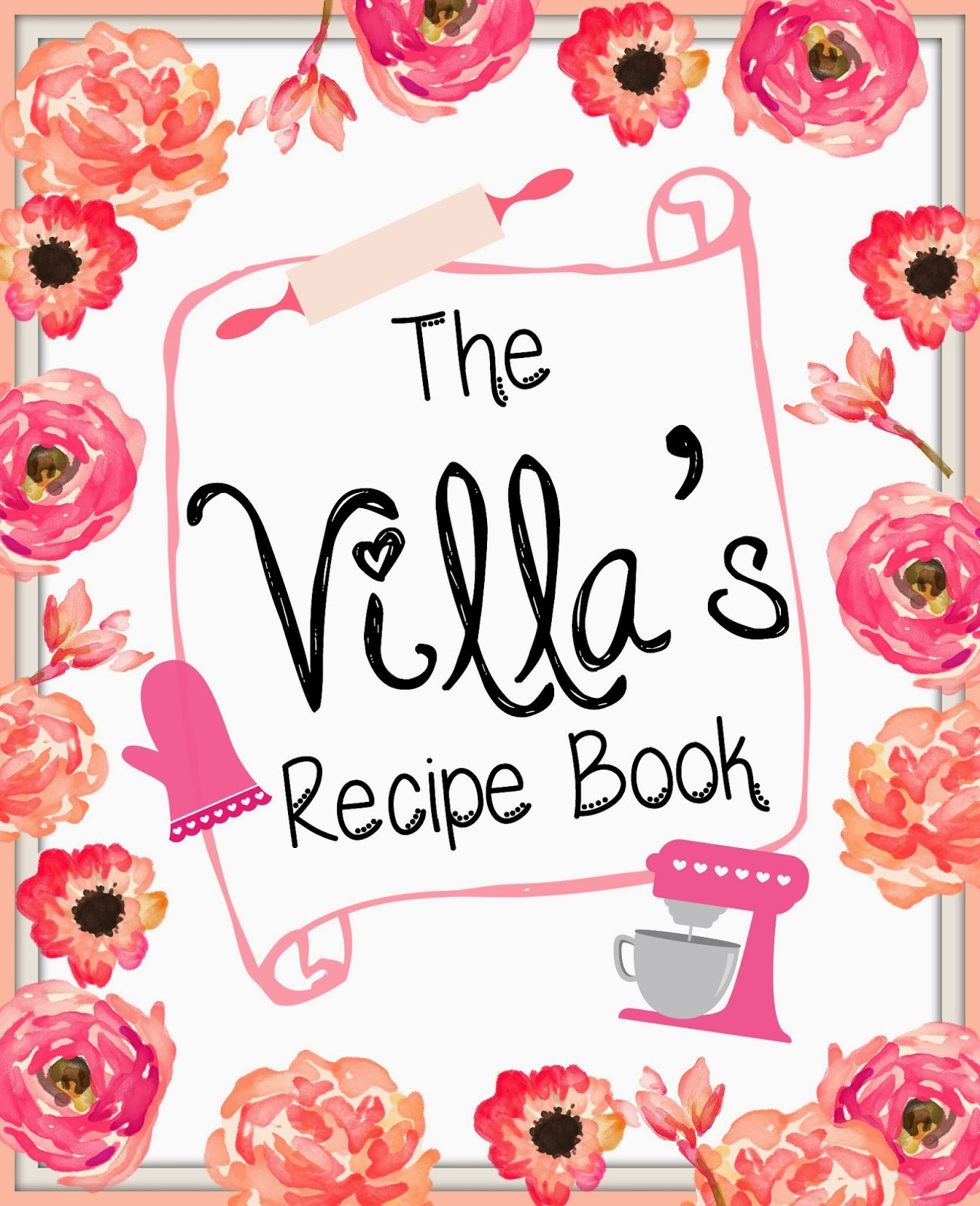 recipe book pages template