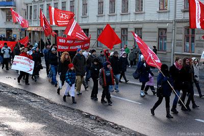 demonstration, demonstrationståg, göteborg, för folket i egypten, tunisien, februari 2011, foto anders n