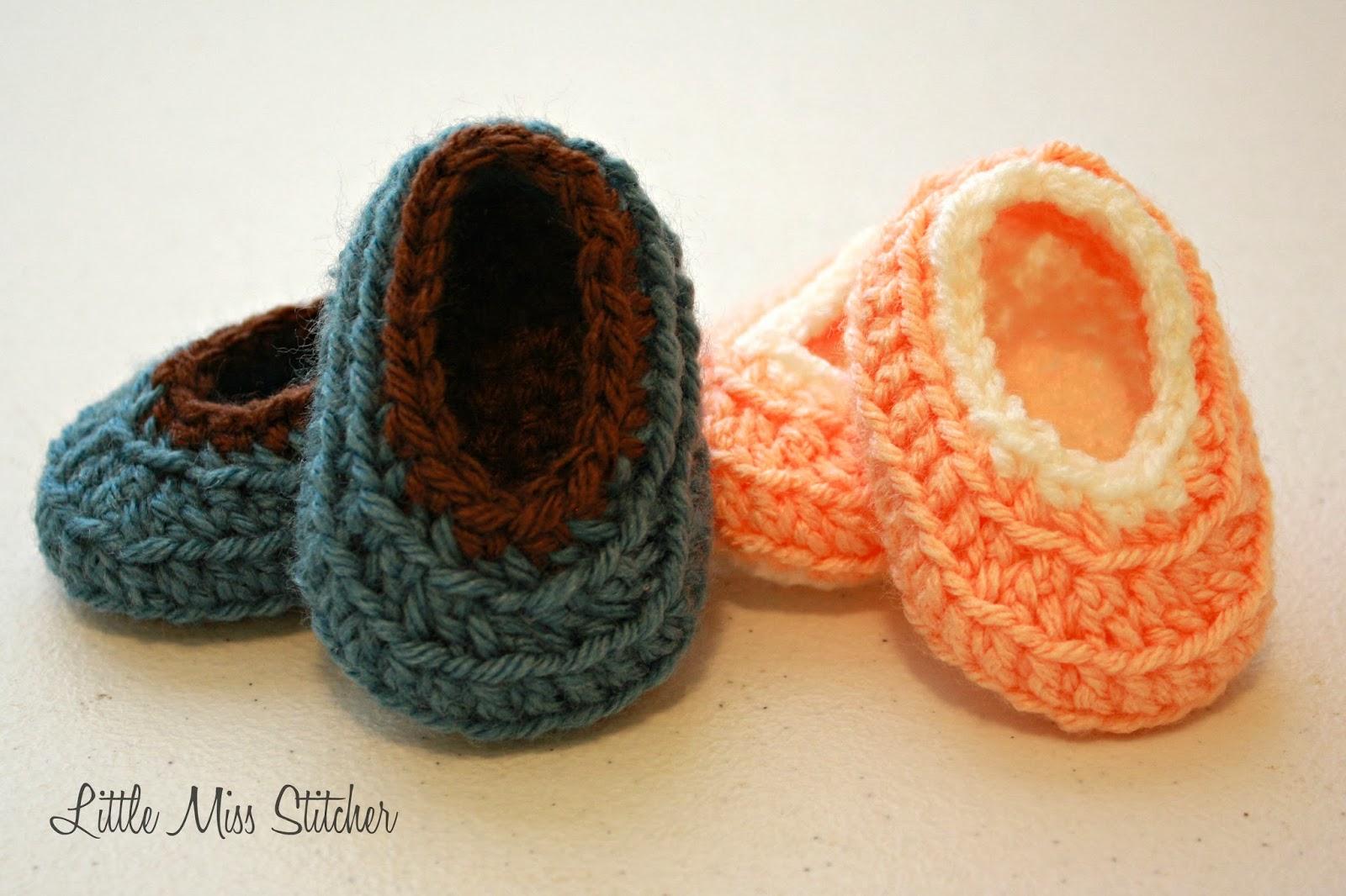 Little Miss Stitcher: Newborn Crochet Bitty Booties Pattern