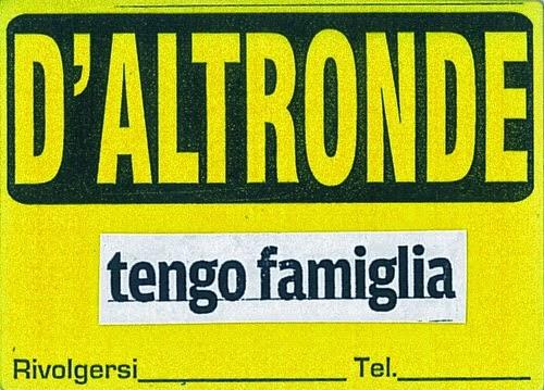 Image result for tengo famiglia