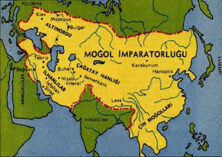 Moğol İmparatorluğu Haritası