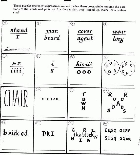 It is a photo of Genius Brain Teasers for Kids Printable