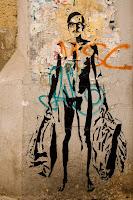 naked street art shopping