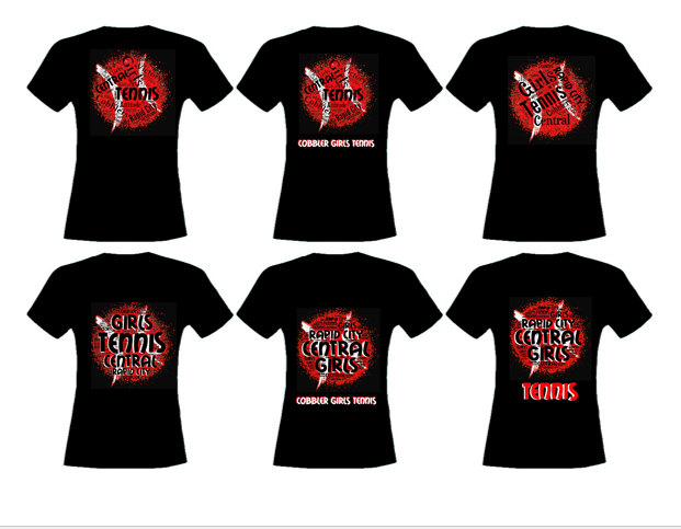 rapid city central tennis team t shirt designs
