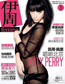 Magazine Cover : Katy Perry Magazine Photoshoot Pics on Femina Magazine China January 2014 Issue