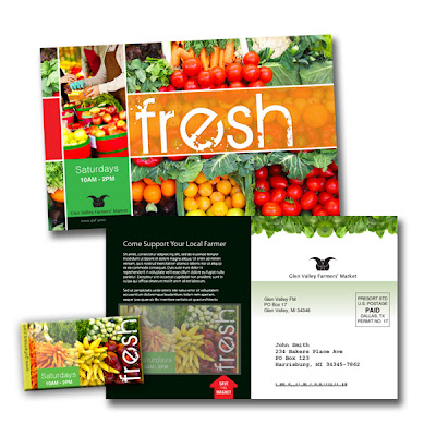 postcard mailer for farmers market