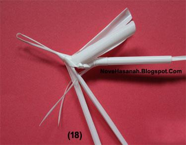 cara membuat prakarya kerajinan tangan bentuk belalang dari sedotan plastik