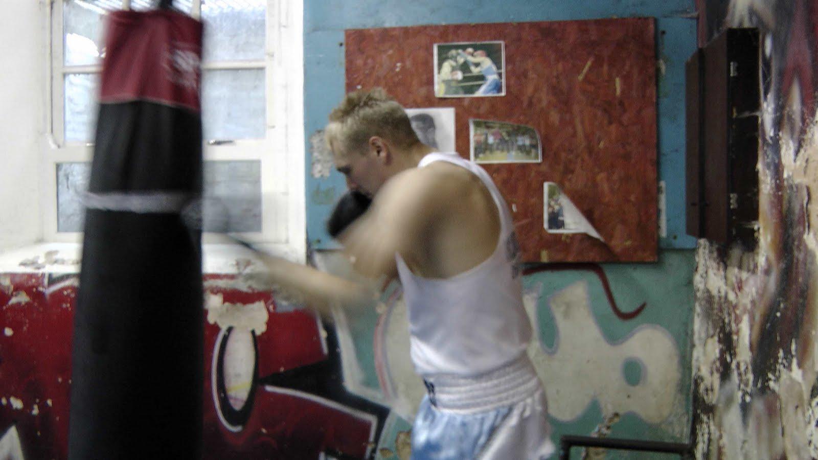Mature Young amateur boxer chris bryant