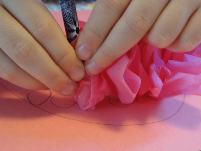 Tissue Paper pencil with glue