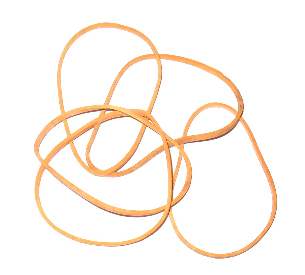 the humble rubber band.