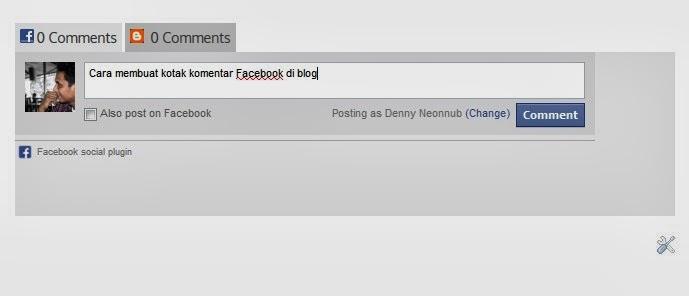 Cara memasang kotak komentar Facebook di blog
