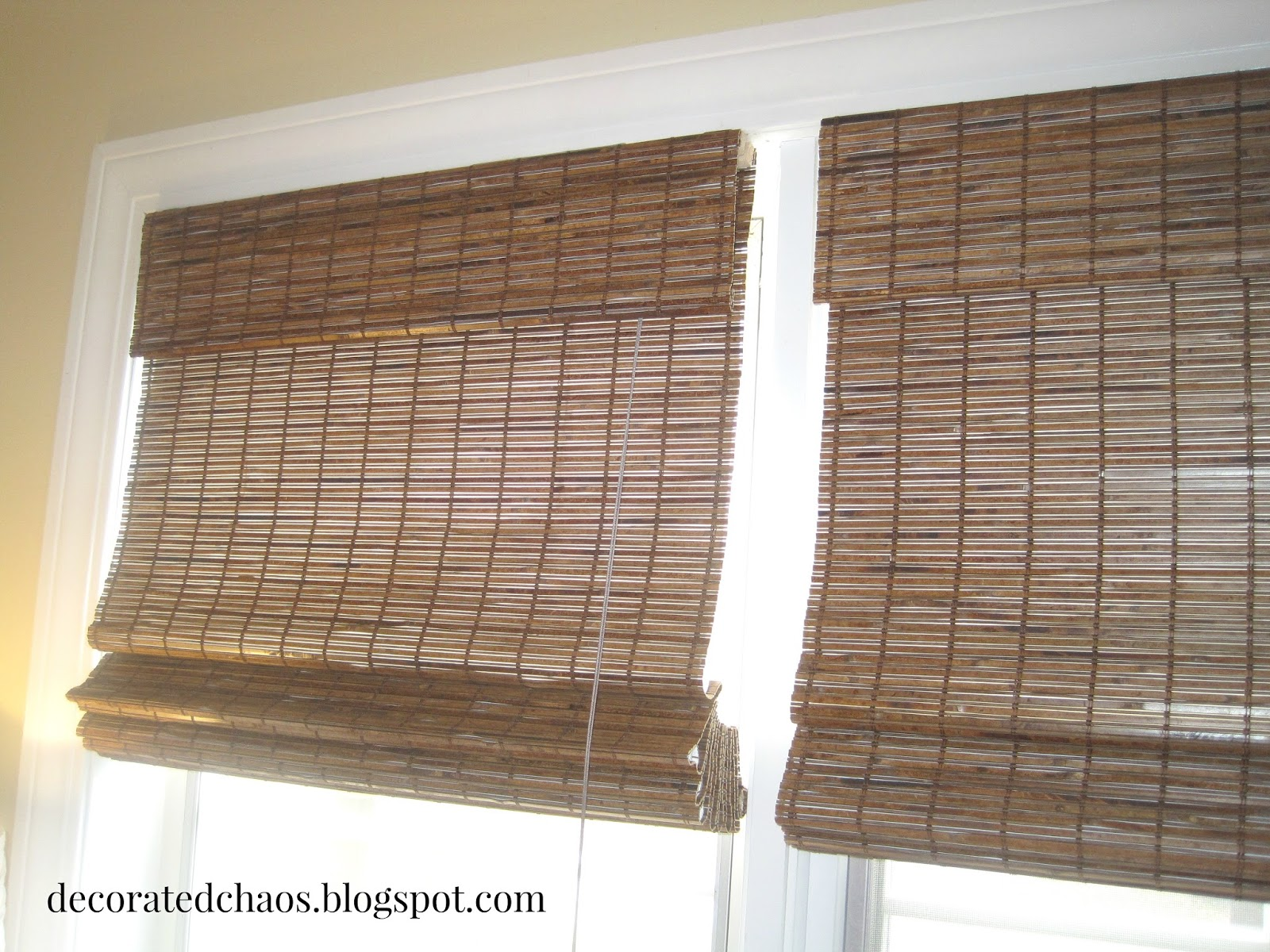 Decorated Chaos New Bamboo Shades From