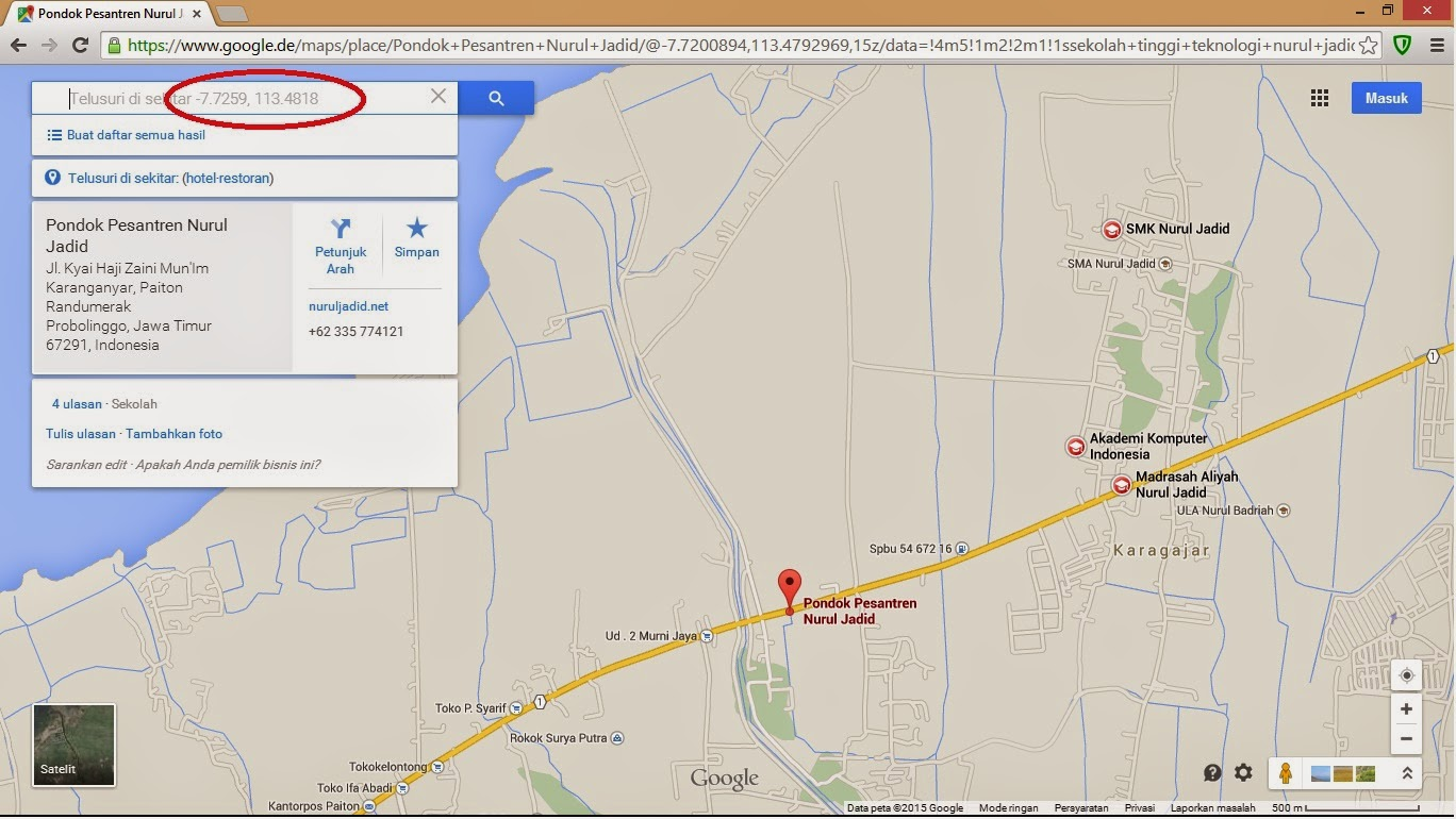 how to search for latitude and longitude on google maps