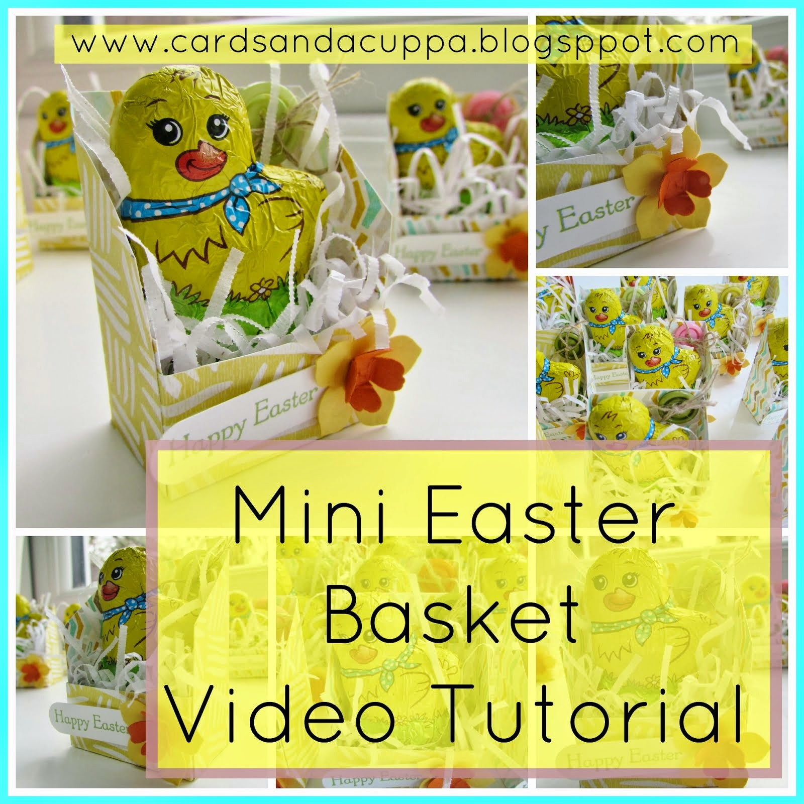 Mini Easter basket using just paper and card