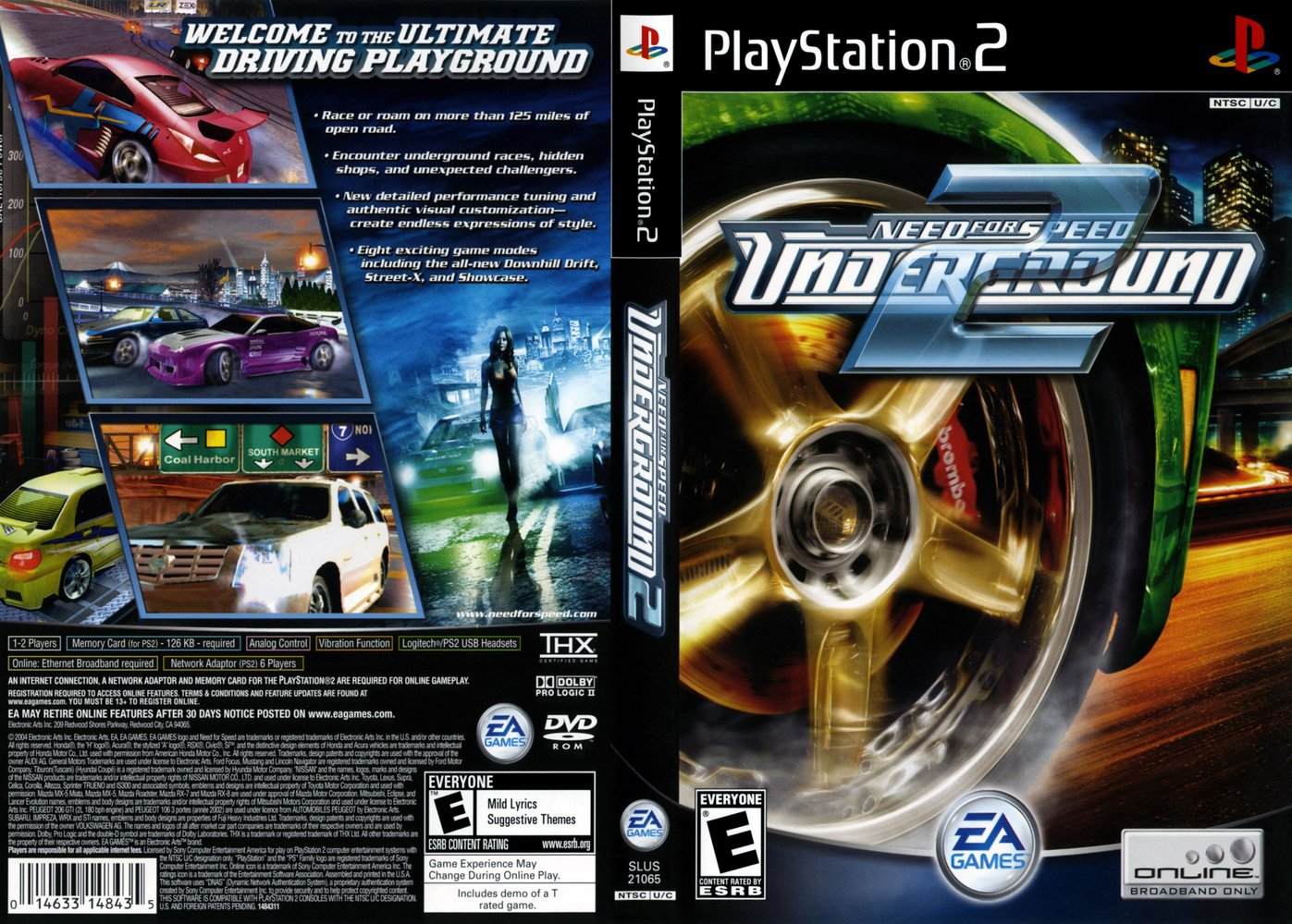 titulo need for speed underground 2 plataforma ps2 playstation 2