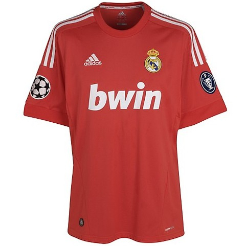 segunda camiseta Real Madrid 2012 roja