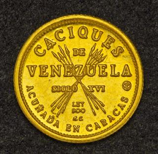Venezuela 5 Bolivares Gold Coin bullion