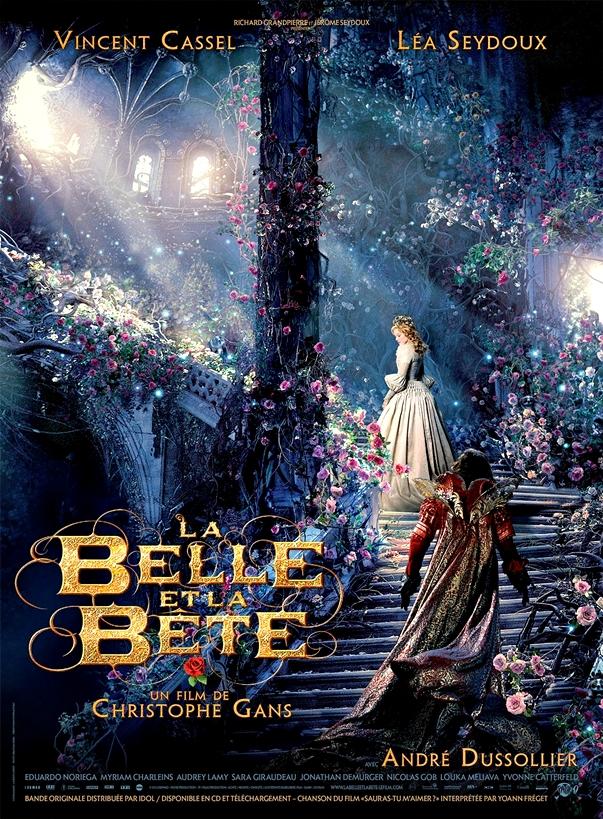 La bella y la bestia, poster francés