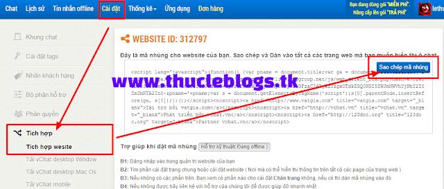 Cài đặt live chat website để chỉnh sửa cửa sổ chat trên website của bạn