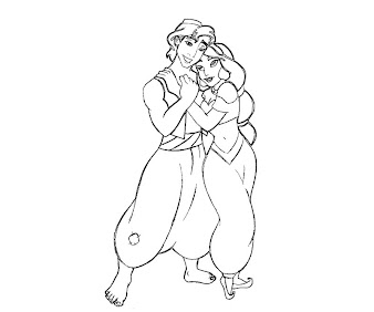 #5 Aladdin Coloring Page