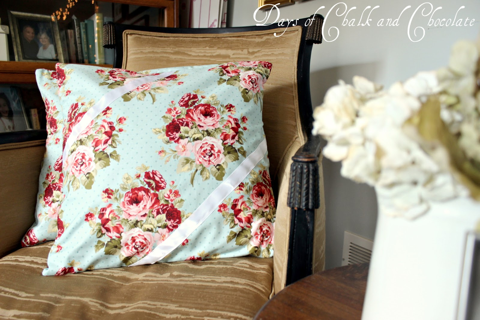 Shabby Chic Bed Pillows : Shabby Chic Pillows (Simple Sewing) Days of Chalk and Chocolate