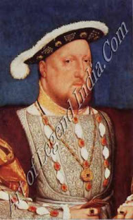 "The Great Artist Hans Holbein Painting ""King Henry VIII"" 1536-37 10¾"" x 7½"" Fundacion Thyssen-Bornezmisza, Madrid"