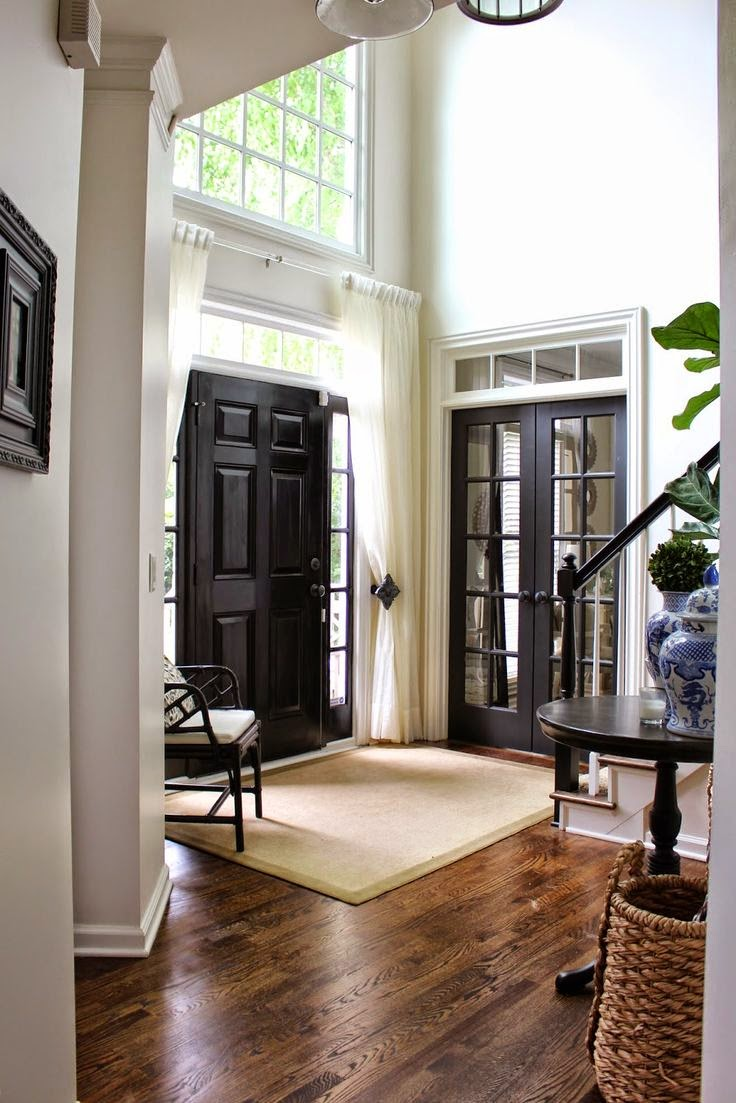 My sweet savannah painting interior doors black for Black interior paint
