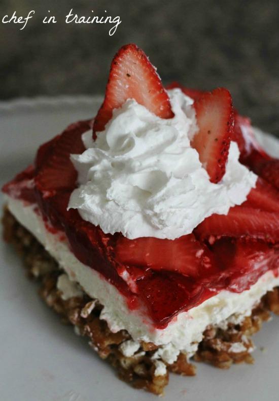 Pretzel Strawberry Jello Cake