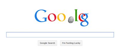 Screenshot of Google Doodle animation for Asteroid 2012 DA14