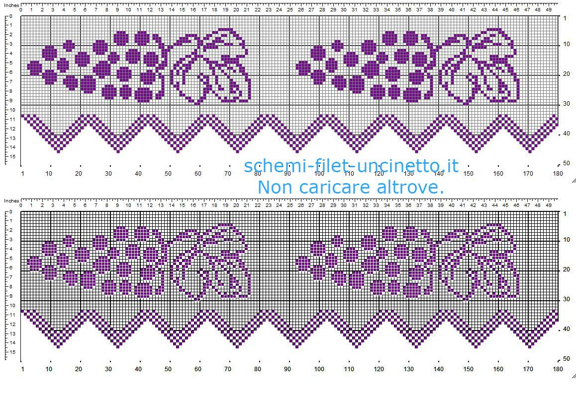 Hobby lavori femminili ricamo uncinetto maglia bordure for Schemi uncinetto bordi