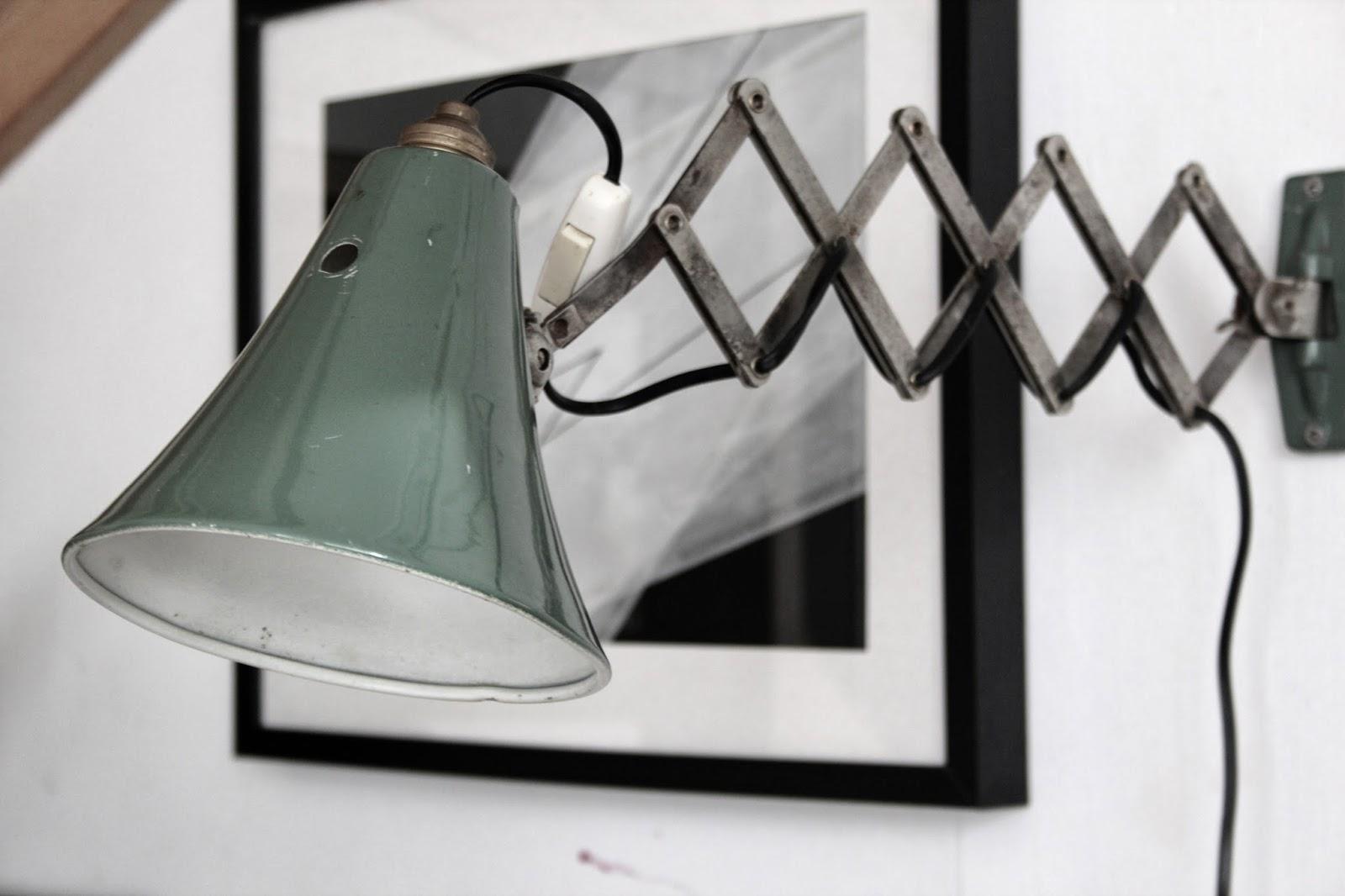 Wall Mounted Scissor Lamp : my scandinavian home: My new vintage/industrial scissor wall lamp