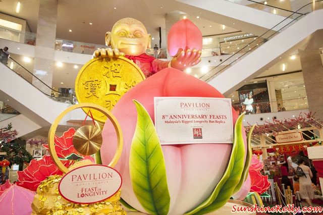 8th Anniversary Feasts, Malaysia's Biggest Longevity Bun Replica, Pavilion KL 8th Anniversary, Longevity Bun, Longevity peach bun, malaysia book of record, monkey year, 888 longevity bun