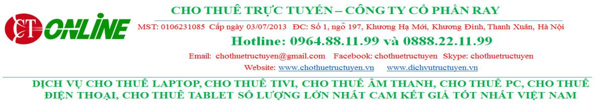 Dịch vụ cho thuê laptop tại Hà Nội và HCM 0964.88.11.99
