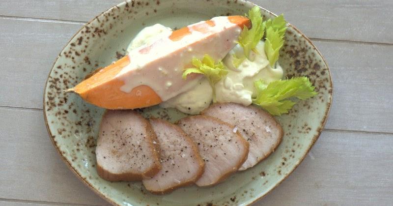 bushcooks kitchen semerrolle in teriyaki marinade mit gebackener s kartoffel und orangen chili. Black Bedroom Furniture Sets. Home Design Ideas